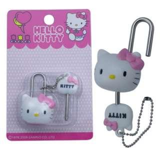 Cute Hello Kitty Mini Figure Lock & Key New In Box