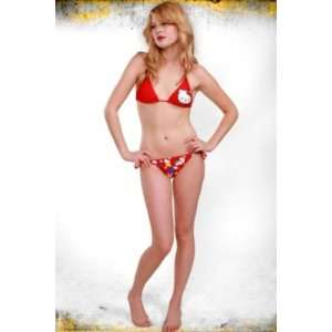 Hello Kitty Red Heart Swimsuit String Bikini 2pc Set