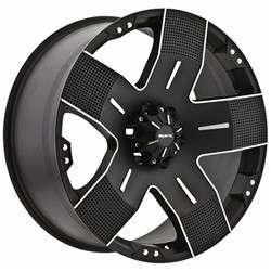 16 inch Ballistic Hyjak black wheels rims 6x5.5 6x139.7 / Titan FJ