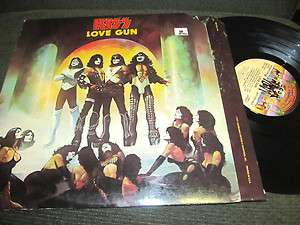 KISS Love Gun LP Vinyl PROMO Original 1st w/inner 77 STERLING