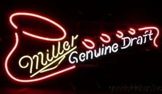 Miller Genuine Draft Saxophone Neon Beer Sign Light
