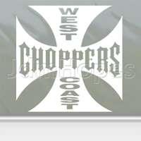 West Coast Choppers Decal Wide Giant Window Sticker