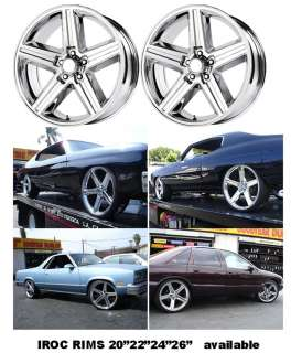 24 Inch RIMS AND 255 30 24 Tire IROC SALE EL CAMINO carprice impala