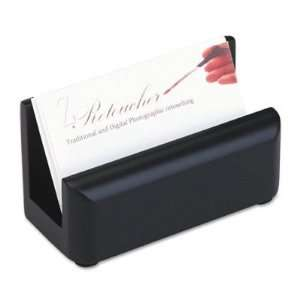 Wood Tones Business Card Holder   Capacity 50 2 1/4 x 4 Cards