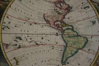 WORLD TWIN HEMISPHERE AMERICA EUROPE AFRICA ASIA AUSTRALIA VISSCHER