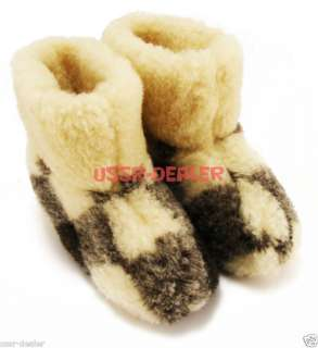 WOOLLY BOOTS/SLIPPERS 100% PURE SHEEP WOOL NEW