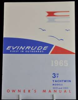 1965 Boat Owners Manual Evinrude Yachtwin 3532 3533 3HP