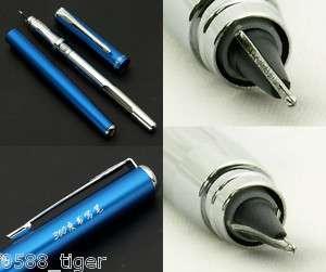 Innovative 360°Angle Cross nib Blue Fountain Pen