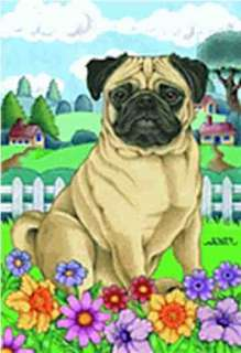 new pug outdoor large house flag design is two pieces of polypoplin