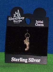 Disney Initial J Sterling Silver Bracelet Charm NEW