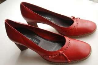 ETIENNE AIGNER Red Leather Pumps Heels ~ Size 7 EUC