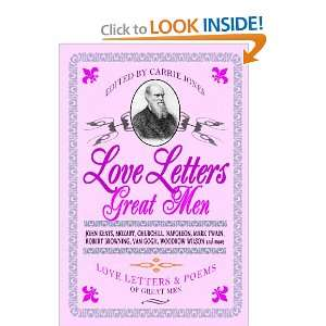 Love Letters Great Men (9781440431555) Carrie Jones Books