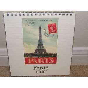 Cavallini PARIS 2010 Easel Desk Calendar: Office Products