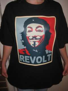 Occupy Che Guevara REVOLT T shirt ANON 4Chan Small to 3XL
