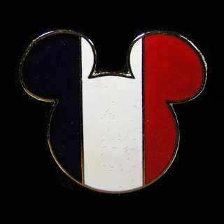 2003 Mickey Mouse French Flag Disney Trading Pin