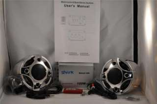Motorcycle 2 speakers + amplifier + radio +sd + remote
