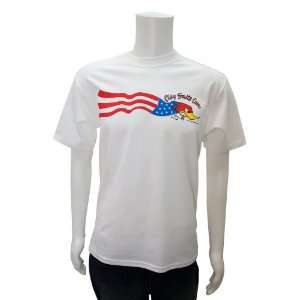 4X White XXXX Large Clay Smith Cams American Flag T Shirt Automotive