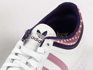 Adidas Top Ten Low Sleek W White/Pink/Eggplant Perforated Cute Dots