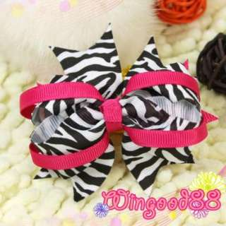 Women Girls Kids Toddler Cute Ribbon Polka Dots Bowknot Butterfly Hair