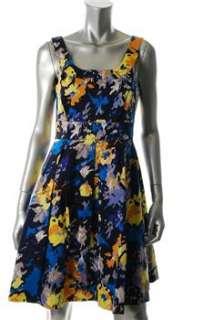 Donna Ricco Blue Versatile Dress Floral Print Sale 4