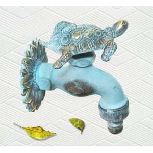 Brass Big Turtle with Baby Turtle on Back Faucet  Kitchen
