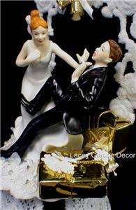 Oooo Presents Wedding shower Cake Topper Crazy Bride Groom funny
