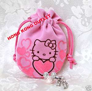 Sanrio Hello Kitty Drawstring Jewellery Bag Case J3b