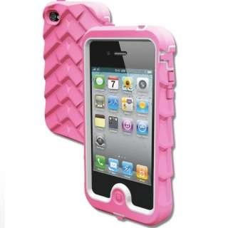 Gumdrop Drop Tech Series iPhone 4 & 4S Case PINK/WHITE NEWEST VERSION