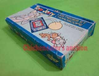 80s GAKKEN JEU HANDHELD CARD GAME WATCH TOM JERRY BOXED