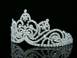 Bridal Wedding Veil Swarovski Crystal Crown Tiara 7164