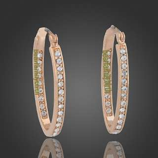 18k rose Gold GP swarovski crystal fashion earrings 759