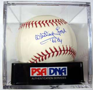 WHITEY FORD AUTOGRAPHED SIGNED MLB BASEBALL 61 CY GRADED 10 PSA/DNA