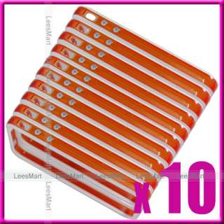 10 x White/orange metal button Bumper Frame iPhone 4