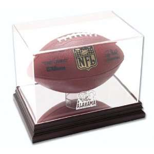 Alabama Crimson Tide Mahogany Logo Football Case Sports