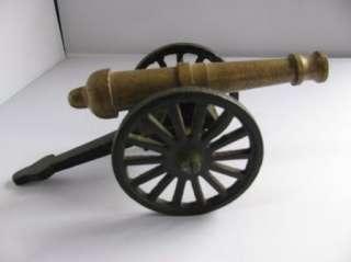 Cast Iron Toy Cannon Wheels Move Vintage