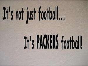 Green Bay Packers Football Vinyl Wall Decal Sticker