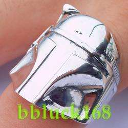 BOBA FETT STAR WARS STERLING SILVER RING FIGURE TOY sz8
