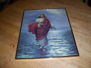 1985 Vicente Roso Print   Jesus Walking on the Water