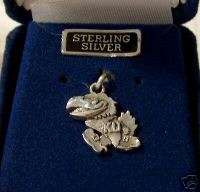 Sterling Silver University of Kansas Jayhawks KU Charm
