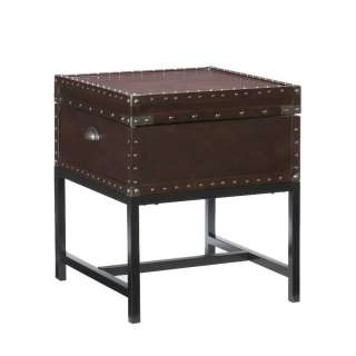 Tuscan Old World Trunk Style Storage End Table NEW