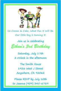 Toy Story Birthday Party Invitations Favors Candy Water