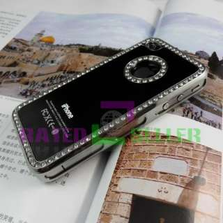 Luxury Hard Case Cover Bling Rhinestone Diamond Crystal iPhone 4 4S 4G