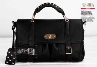 Women Studded Handbag Shoulder Messenger Bag Satchel