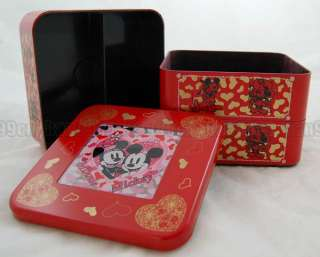 Mickey & Minnie Mouse Candy Box Storage Case Red 1AAE