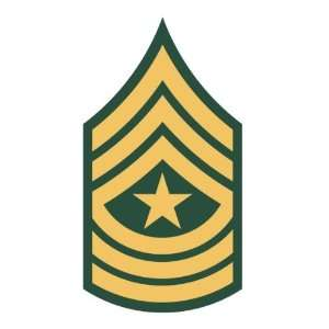 U.S. Army sergeant major rank insignia sticker vinyl decal