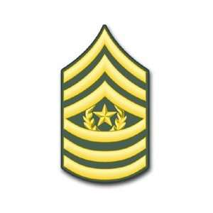 US Army E 9 Command Sergeant Major Rank Insignia vinyl transfer decal