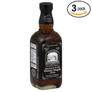 Lynchburg Syrup, TN Whisky Honey Maple, 14.4 Ounce (Pack of 3)
