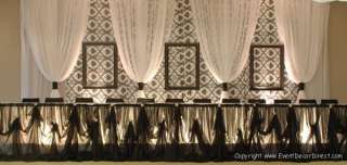 Curtain for Draping Wedding Backdrop, Party Drape Decor   BROWN