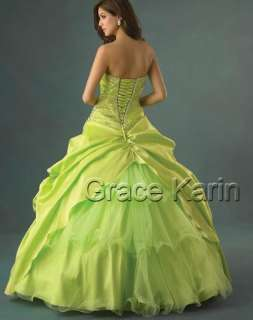 Good Wedding Dress Bridesmaid Evening Party Prom Gown Stock Size 6 8