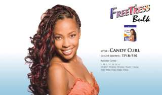 CANDY CURL BRAID FREETRESS SYNTHETIC BRAID BULK HAIR